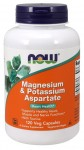 Magnesium & Potassium Aspartate with Taurine 120 kap NOW Foods