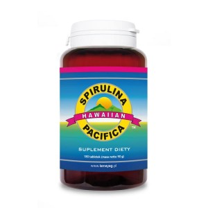 Spirulina Pacifica hawajska 180 tabletek 500 mg, Cyanotech