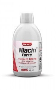 Niacin Forte 500 ml Witamina B3 500 mg, Pharmovit