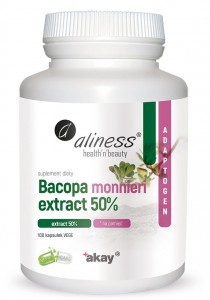 Bacopa monnieri extract 50%, 500 mg x 100 Vege Caps., Aliness