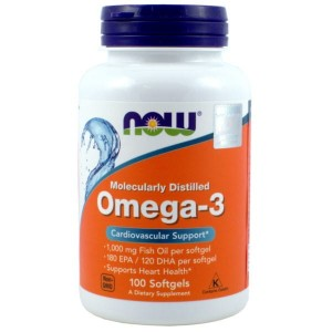 Omega-3 Molecularly Distilled (100 kaps.) NOW Foods
