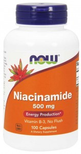 Niacinamide B3 (Niacynamid) 500mg (100 kaps) NOW Foods