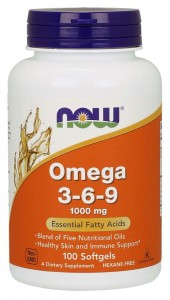 Omega 3-6-9 100 mg (100 kap) NOW Foods