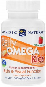 Daily Omega Kids Natural Fruit Flavor (30 kaps) Nordic Naturals