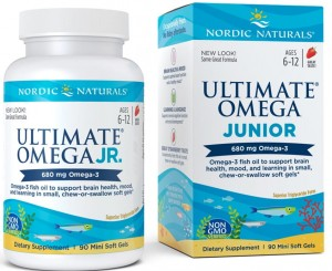 Ultimate Omega Junior 680mg,truskawka (90 Kaps) Nordic Naturals