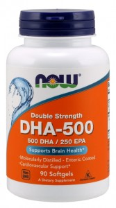 500 DHA / 250 EPA (90 kaps) NOW Foods