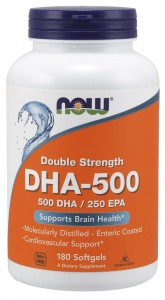 500 DHA / 250 EPA (180 kaps) NOW Foods