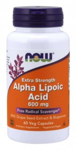 Alpha Lipoic Acid 600 mg (60 kaps) NOW Foods