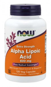 Alpha Lipoic Acid 600 mg (120 kaps) NOW Foods