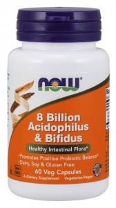 8 Billion Acidophilus & Bifidus (60 kap) NOW Foods zdjęcie