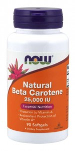 Beta Carotene Natural (karoten wit A) (90 kaps) NOW Foods
