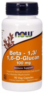 Beta 1,3 / 1,6-D-Glucan 100 mg (90 kaps) NOW Foods