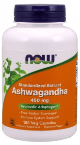 Ashwagandha Extract 450mg (180 kap) NOW Foods
