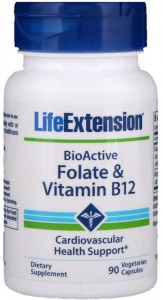 BioActive Folate & Vitamin B12 (90 kaps) Life Extension