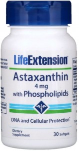 Astaxanthin with Phospholipids 4mg (30 kaps) Life Extension