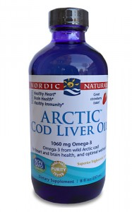 Arctic Cod Liver Oil 1060mg Strawberry  (237 ml) Nordic Naturals zdjęcie