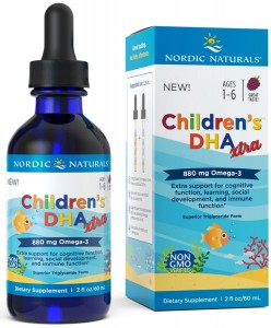 Children's DHA Xtra 880mg Berry Punch Jagoda (60 ml) Nordic Naturals
