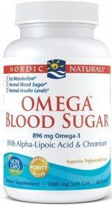 Omega Blood Sugar Kwas ALA, chrom (60 kaps) Nordic Naturals
