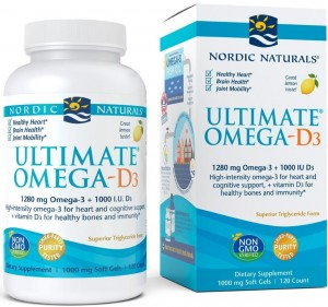 Ultimate Omega-D3 1280mg Lemon Cytryna (120 kaps) Nordic Naturals