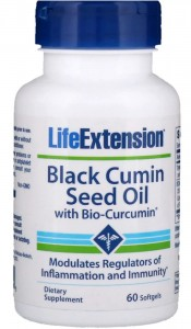 Black Cumin Seed Oil with Bio-Curcumin czarnuszka (60 kaps) Life Extension