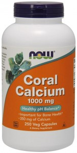 Coral Calcium 1000mg 250 kaps NOW Foods