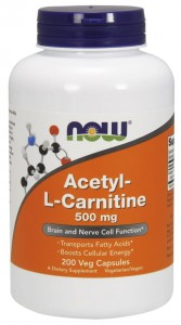 Acetyl-L-Carnitine 500 mg (200 kaps) NOW Foods