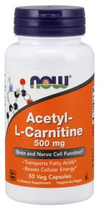 Acetyl-L-Carnitine 500mg (50 kaps) NOW Foods