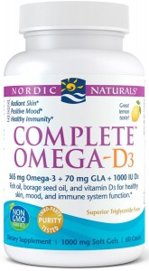 Complete Omega-D3 565mg Cytryna 60 kaps Nordic Naturals zdjęcie