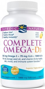 Complete Omega-D3 565mg Cytryna 120 kaps Nordic Naturals