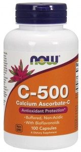 Witamina C-500 Calcium Ascorbate-C 100 kapsułek NOW Foods