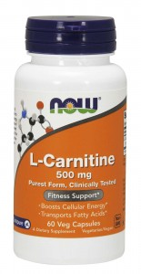 L-Carnitine 500mg (60 kaps) NOW Foods