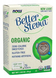 Better Stevia Organic 75 saszetek NOW Foods