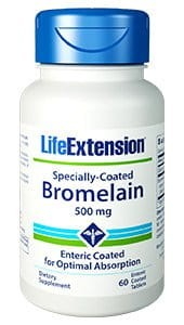 Bromelaina Specially - Coated Bromelain 60 tabl. LifeExtension zdjęcie