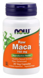 Maca 6:1 Concentrate 750 mg (30 kaps) NOW Foods
