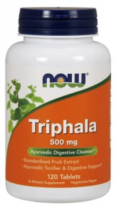 Triphala 500 mg 120 tabletek NOW Foods