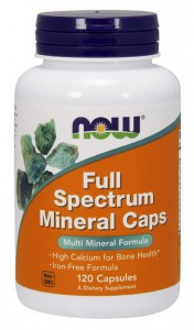 Full Spectrum Minerały 120 kaps NOW Foods