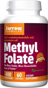 Methyl Folate (Kwas foliowy) 400 mcg (60 kaps) Jarrow Formulas
