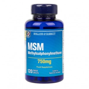 MSM Methylsulphonylmethane 750 mg 120 kapsułek Holland&Barrett