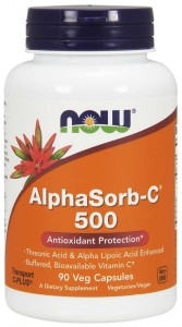AlphaSorb-C 500mg Witamina C + Kwas alfa liponowy (90 kaps) NOW Foods