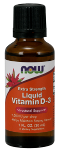Witamina D-3 Liquid, Super mocna 30ml Nowfoods