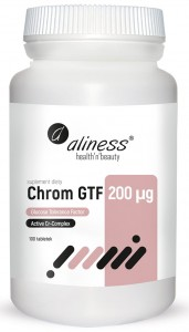 Chrom GTF Active Cr-Complex 200 µg 100 tabletek Vege, Aliness