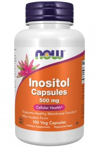 Inositol (Inozytol) 500mg 100kaps NOW Foods