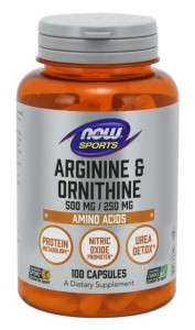 Arginina i ornityna 500mg/250mg (100kaps) Now Foods