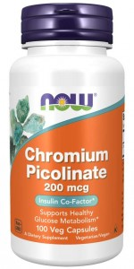 Chromium Picolinate Chrom 100 kaps NOW Foods