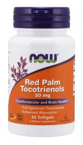 Red Palm Tocotrienols  50 mg (60kaps), NOW Foods