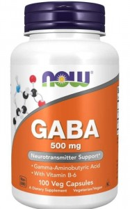 GABA 500 mg (100 kapsułek) NOW Foods