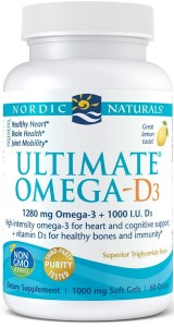 Ultimate Omega-D3 1280mg Lemon Cytryna (60 kaps) Nordic Naturals
