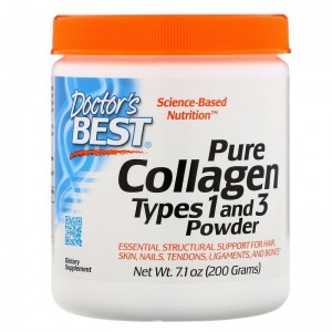 Doctor's Best Pure Collagen Types 1 and 3 Powder (Kolagen Typu 1 i 3 ) 200g zdjęcie