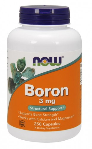 Boron Bor 3 mg (250 kaps) NOW Foods.jpg