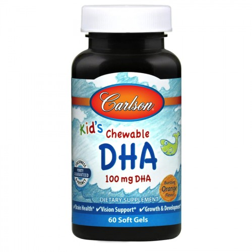 Kid's DHA 100 mg 60 soft gels Carlson lab.jpg